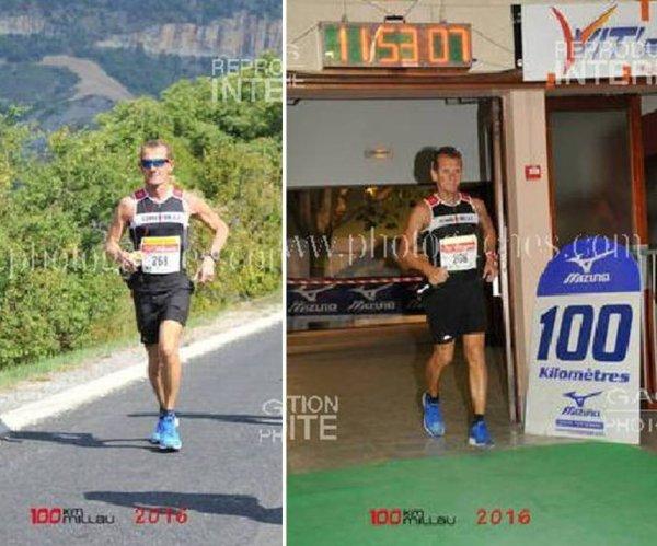 """100 km de Millau 2016 - Laurent Antoniucci nouveau """"centbornard"""""""