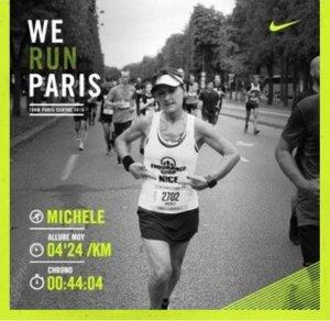 10 km de Paris Centre 2016 - Michèle Simoncelli 2ème Master 2