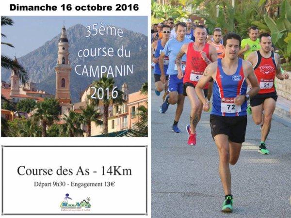 Course du Campanin 2016 (Menton) - Top 10 pour Sébastien Villalba