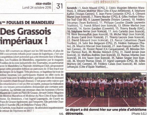 Les Foul&es de Mandelieu 2016 - Succès d'une première édition arrosée !