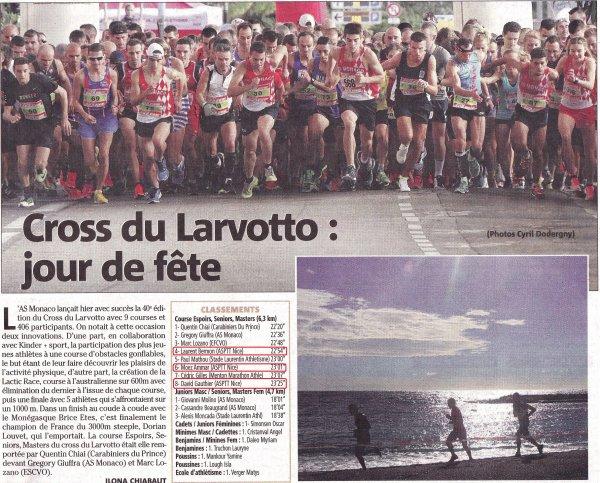 Cross du Larvotto 2016 (Monaco) - Top 10 et podium Masters pour le trio ASPTT Nice