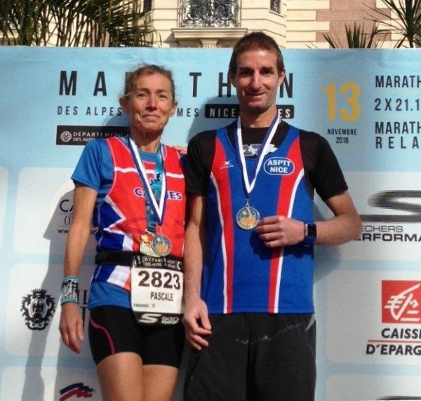 Marathon des Alpes-Maritimes - Fred Gayol Champion Régional 2016 de Marathon