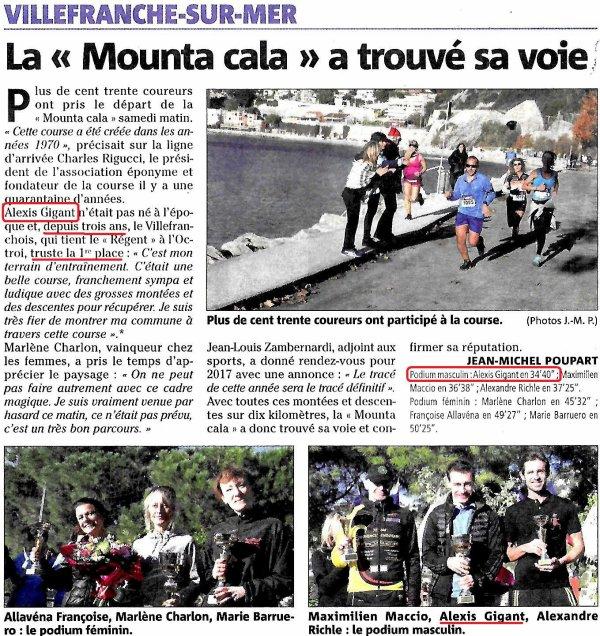 Mounta Cala 2016 (Villefranche-sur-Mer) – Victoire d'Alexis, Hugues 6ème (3ème V1M)