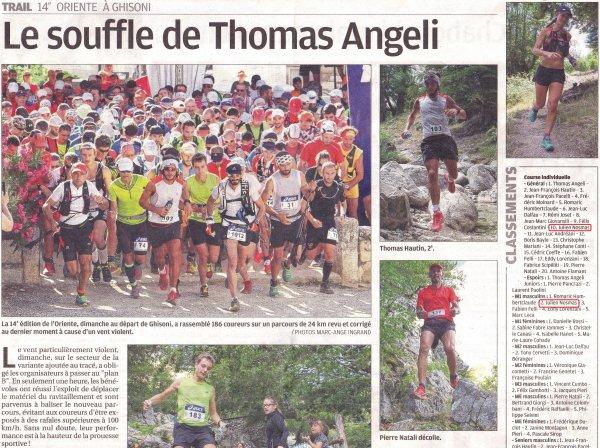 Trail de l'Oriente 2016 (Haute-Corse) - Top 10 pour Julien Nosmas (2ème Master 1)