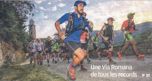 Via Romana 2016 (Haute-Corse) – Julien Nosmas 6ème scratch et 2ème V1M sur 40 km