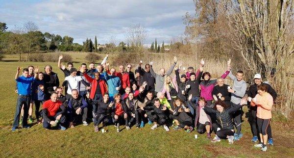 Un Fartlek pour la Galette des Rois de l'ASPTT Nice Athlétisme (Mougins)