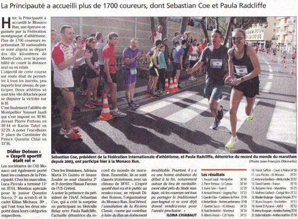 Les 10 km du Monaco Run 2017 - Podiums pour Amandine, Christine, Franck et Romain
