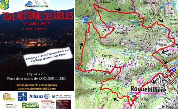Trail Nocturne des Abeilles 2017 (Roquebillière)