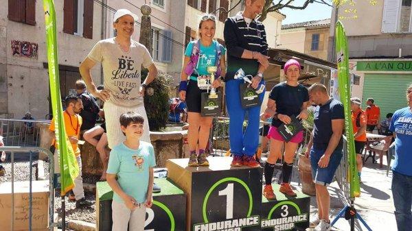 Trail de Signes (Var) - Daphné Ulmann 2ème sur 50 km, Isabelle Belia 1ère M2 sur 26 km