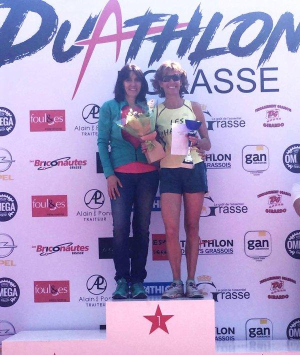 Duathlon de Grasse 2017 - Le relais féminin pour Cathy Montoya et Nathalie Saupagna
