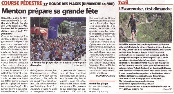 Dim 14 Avril 2017: Trail de Massoins, Ronde des Plages (Menton), Trail L'Escarènoise