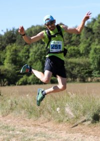 Trail du Pays de Grasse 2017 - Podium scratch pour  Charly Dalfin (2ème du 17 km)