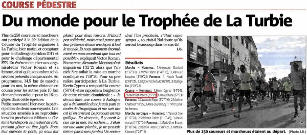 Course du Trophée 2017 (La Turbie, 06) - Maximilien Maccio 2ème sratch (1er Master 1)
