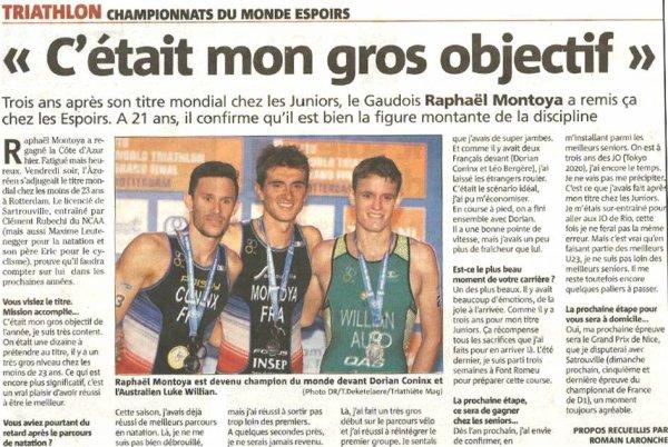 ASPTT Nice et Triathlon – Raphaël Montoya, un champion du monde proche de nous !