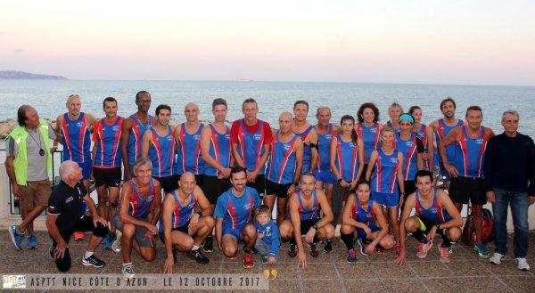 Marathon Nice-Cannes 2017 - Entrainement ASPTT Nice sur France 3