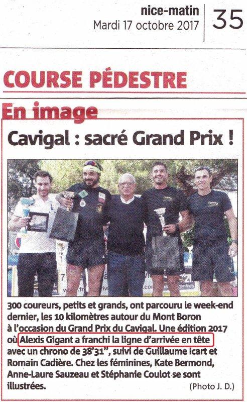 Grand Prix du Cavigal (Nice) - Victoire d'Alexis, Top 10 et podium pour Hugues et David