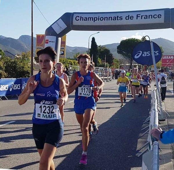 France de 10 km 2017 - JB Vice-Champion Master 2, Jocelyne Championne Master 4