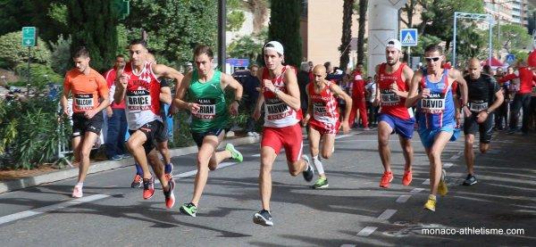 Cross du Larvotto 2017 (Monaco) - Anthony Caverivière à 2 secondes de la victoire Magali Reymonenq 2ème F, Céline Plasseraud 3ème F, Paolo Cerea 3ème Poussin
