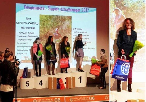 Challenge Trail Nature 06 - Isabelle Belia 2ème du Super Challenge Féminin 2017