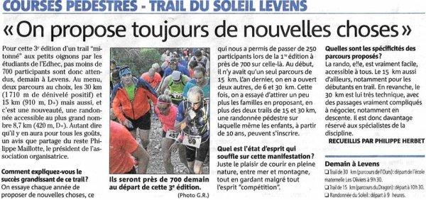 Trail du Soleil Levens 2017 - Victoire d'Amandine sur 22 km, Laurent 6ème sur 15 km