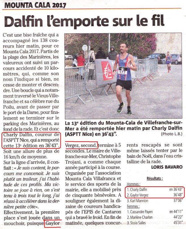 Mounta Cala 2017 (Villefranche-sur-Mer) - Victoire de Charly Dalfin, Gaylor Verger 2ème