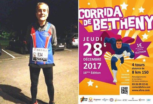 Corrida de Bétheny (Marne) 2017 - Bernard Lefevre... le retour !