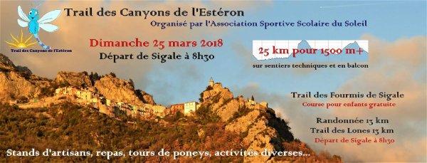 Trail des Canyons de l'Estéron (Sigale, 06) - 25 Mars 2018