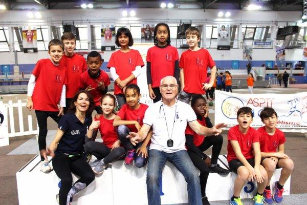 Kids Athletics en Salle 2018 (Nice) - Top 5 du 06 pour l'ASPTT Nice Côte d'Azur