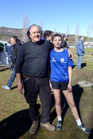 Intercomité PACA de Cross Minimes 2018 (Digne, 04) - Carla Grilli 2éme par équipe