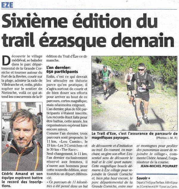 Trail d'Eze 2018 - Maximilien Maccio dans le Top 10 et 1er Master sur 19 km