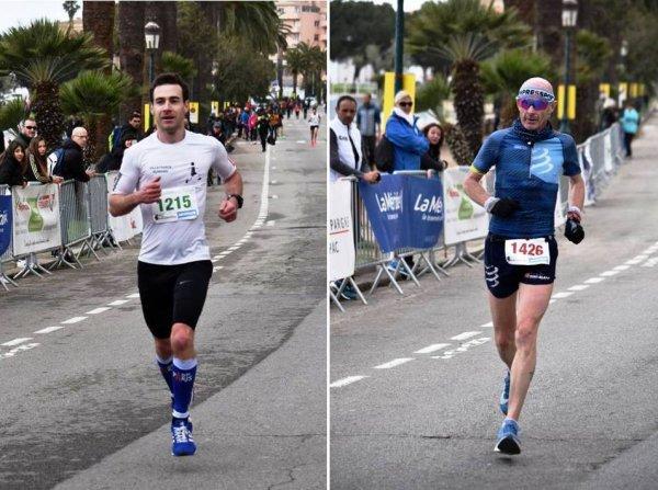 Ajaccio 2018 - Alexis Gigant remporte le Semi, Maximillien Maccio 3ème sur Marathon