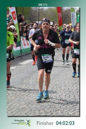 Marathon de Paris 2018 - Thierry Thomas bientôt sous les 4 heures !