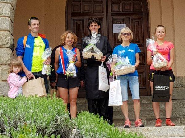 Rocabiera Trail 2018 (Roquebillière, 06) - Isabelle Belia 3ème femme (2ème Master 2)