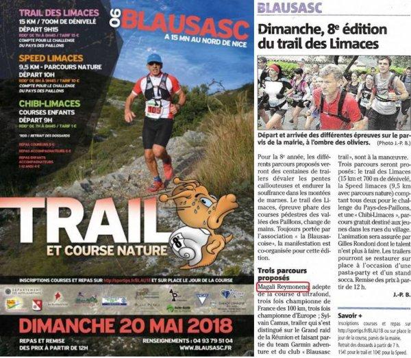 Trail des Limaces 2018 (Blausasc) - Podium scratch pour Gaylord, Séb, Céline et Isabelle