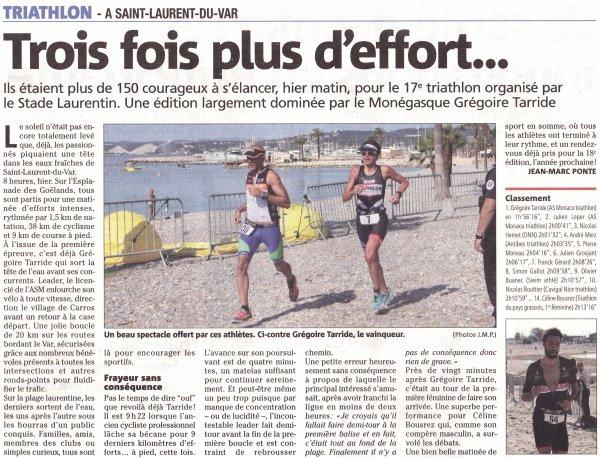 Triathlon de Saint-Laurent-du-Var 2018