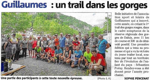 Trail de Guillaumes 2018 (Alpes-Maritimes) - Un lancement réussi !