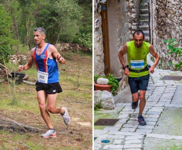 Mounta Cala et Trail de Peillon 2018 (06) -  Victoire du relais Laurent-Esteban Bermon, Gaylord 9ème, Jocelyne 1ère Master 4, Charly 6ème en trail (3ème Master 1)
