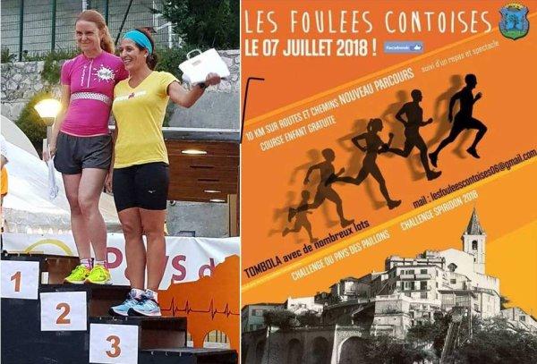 Les Foulées Contoises 2018 (06) - Victoire de Laurent Bermon, David Gauthier 3ème, Maximilien Maccio 5ème, Nadia Houara 3ème Master 1