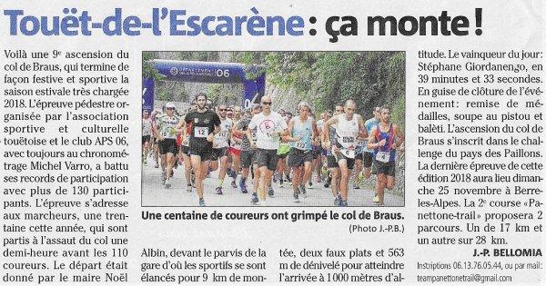 Ascension du Col de Braus 2018 ( 06) - Laurent Bermon 2ème, Jean-Max 2ème Master 3