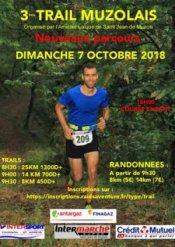Trail Muzolais 2018 (Saint-Jean-de-Muzols, 07) - Baptiste Bonhomme 12ème sur 14 km