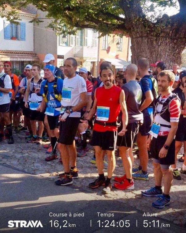 Trail de Gorbio 2018 (06) - Charly 2ème sur 16 km, Isabelle 2ème Master 2 sur 42 km