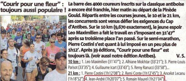 Courir pour une Fleur 2018 (Antibes, 06) - Top 10 pour Jean-André, Romain et Mickaël