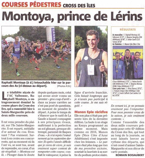Cross des Iles 2018 (Cannes) - Trois victoires par équipe pour l'ASPTT Nice Côte d'Azur