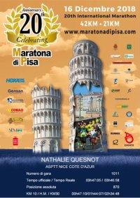Marathon de Pise 2018 (Italie) - L'ASPTT Nice avec Nathalie Quesnot