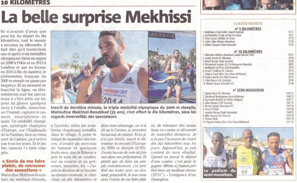 5 km, 10 km et Semi de Cannes 2019 - L'ASPTT Nice cinq fois en tête de catégorie