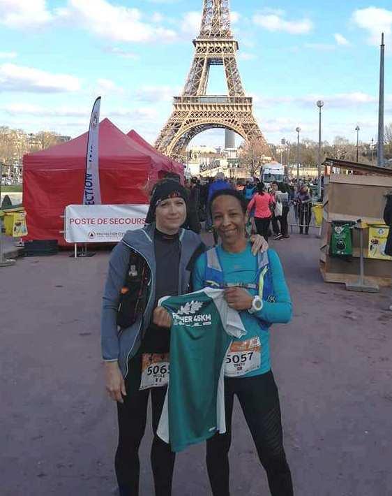 EcoTrail de Paris 2019 - Le 45 km avec Odete Boularès et Cécile Temmar