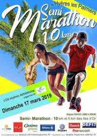 Le Semi-Marathon de Hyères 2019 (Var) avec Mylène, 1ère Master 2, Séverine et Paul