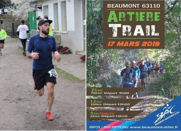 Artière Trail 2019 (Beaumont, Puy-de-Dôme) - L'ASPTT Nice avec Baptiste Bonhomme