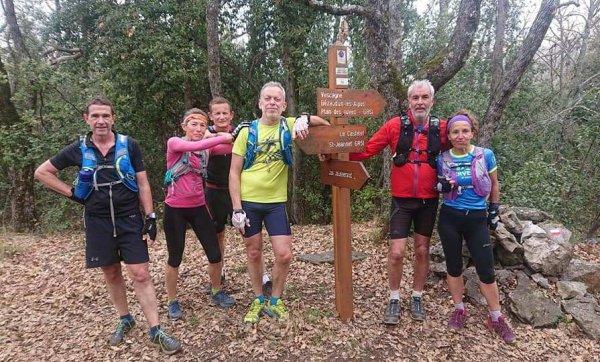 Sortie Trail - Un dimanche de mars entre Gattières et le Cheiron