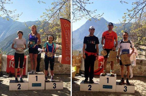 Trail des Canyons de l'Estéron 2019 (Sigale) - Nouvelle victoire d'Eric Descamps (15 km) Isabelle Belia 3ème femme (27 km), Charly Dalfin 9ème (27 km)